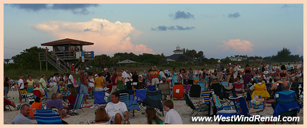 Casey Key Drum Circle Crowd